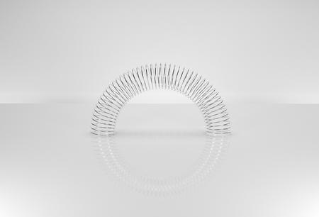 3D render illustration spring on table Stok Fotoğraf