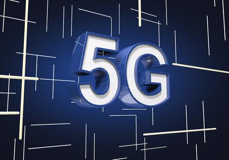 3D render 5G symbol