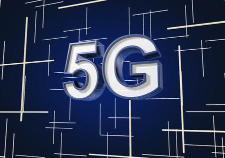 3D render 5G symbol illustration