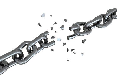 Broken chain Banco de Imagens
