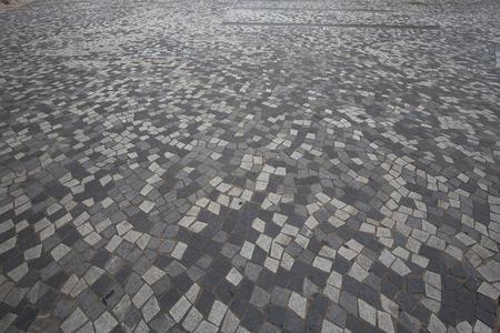 bricks floor in the city