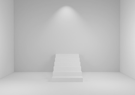 3d rendering stairs concept background
