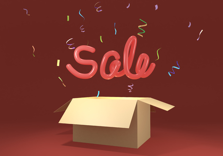 3D rendering illustration sale symbol