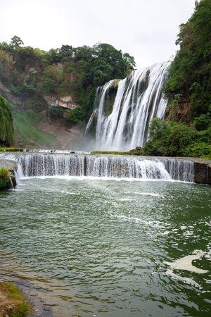 huangguoshu waterfall in guizhou china Stok Fotoğraf - 128102382