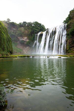 huangguoshu waterfall in guizhou china Stok Fotoğraf - 128102383