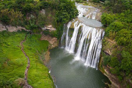 huangguoshu waterfall in guizhou china Stok Fotoğraf - 128102386