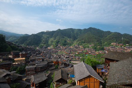 miao village in guizhou china