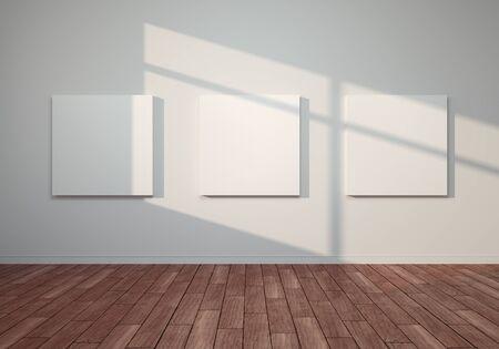 3D render illustration exhibition room Stok Fotoğraf - 128686908