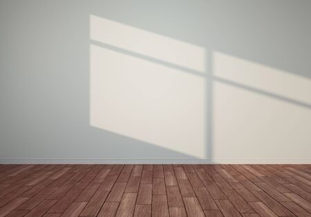 3D render empty room with sunlight Stockfoto