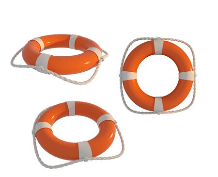 life buoy with white background Banco de Imagens