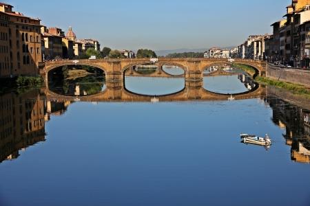 arno:  Bridge over Arno River, Florence, Italy Stock Photo