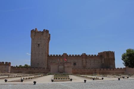 castile leon: La Mota Castle, Medina del Campo, Valladolid Province, Castile and Leon, Spain