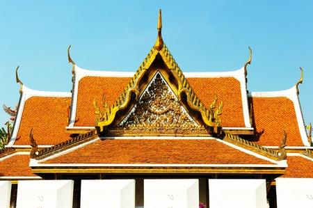Thai roof Roof Wat ratchanatdaram temple, Bangkok, Thailand photo