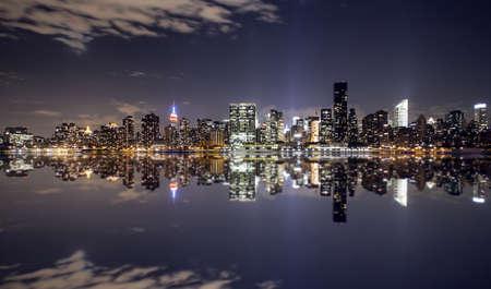 New York city skyline as seen from Gantry park, Long Island city