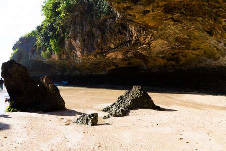 Cliffs at a beach in Bali, Indonesia
