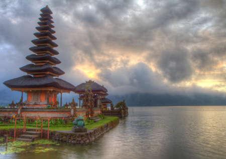 Ulun Danu Temple on lake Bratan in Bali