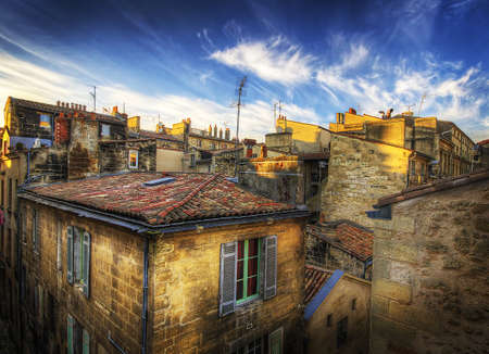 Building rooftops in Bordeaux, France
