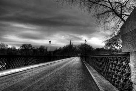 Bridge in Jesmond on a grey day in the Winter Stock Photo - 21644172