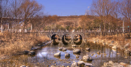 A small stream and bride in South Korea Stock Photo - 21640795