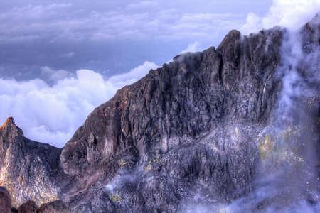 Inside Mount Merapi volcano in Yogyakarta, Indonesia