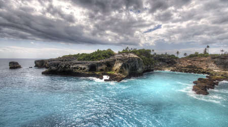 Cliffs and the sea in Nusa Lembongan