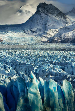Perito Moreno Glacier with mountains in the background in Argentina Patagonia Stock Photo - 22159886