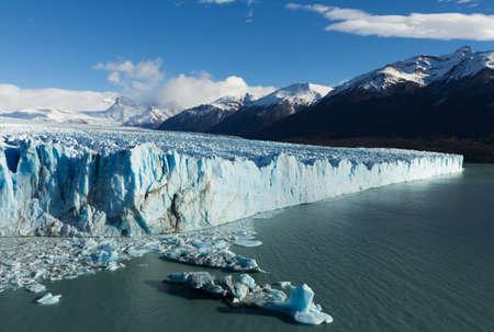 icescape: Perito Moreno glacier Argentina seen from a high viewpoint Stock Photo