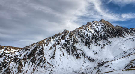 Snowy, jagged mountain in the Pyrenees Stock Photo - 22494643