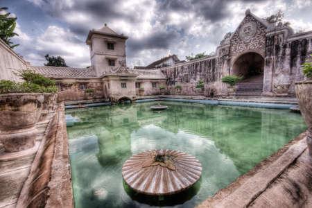 Bathing pool in Taman Sari water castle in Yogyakarta, Indonesia