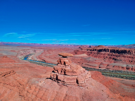 nice view of landscape of utah and nevada, the mexican had and nice river on the near