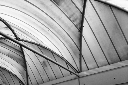 man made structure: Textured ceiling of a man made structure