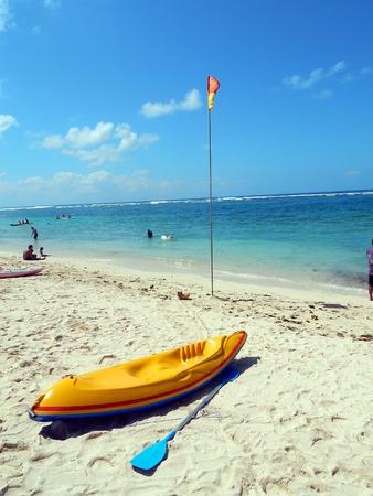 flotation: Yellow kayak Stock Photo