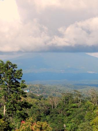 cumulonimbus: Cumulonimbus cloud and mountain Stock Photo