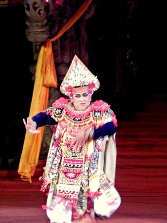 balinese: single performance of Balinese dancer