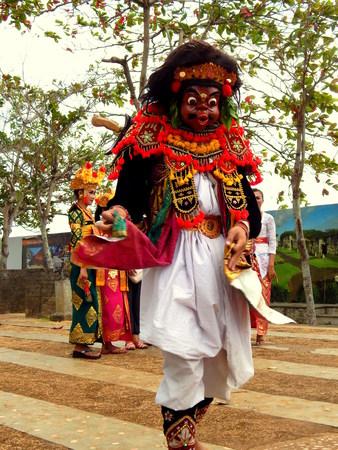 balinese: Balinese mask dancer Editorial