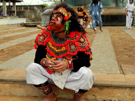 kecak: Balinese mask dancer Editorial
