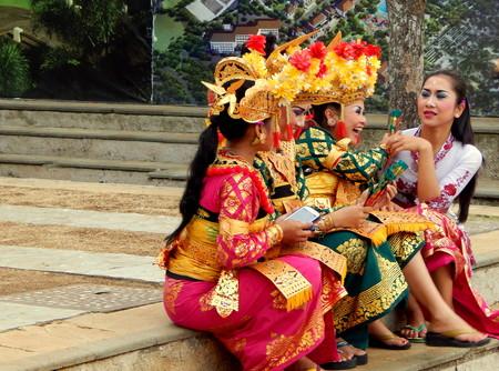kecak: Balinese girls are laughing