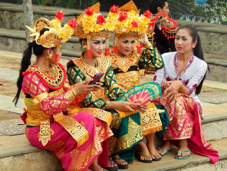 Group of Balinese dance girls