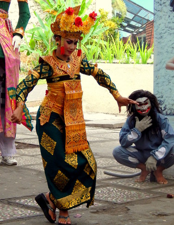 kecak: Traditional Balinese dance girl Editorial