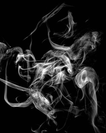 Mystery dense smoke over black background, abstract photo Stok Fotoğraf