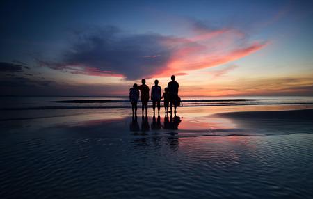 beautiful sunset in Sabah photo