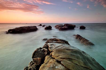 captured: the beautiful sunset. This image captured in Kudat, Sabah