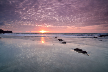 Beautiful  seascape with sunrise/sunset