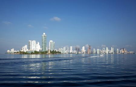 Cartagena Skyline as seen from the Caribbean Sea