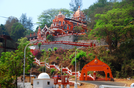 Maruti Temple in Panjim, Goa, dedicated to the Hindu Monkey God Hanuman Reklamní fotografie - 80766155