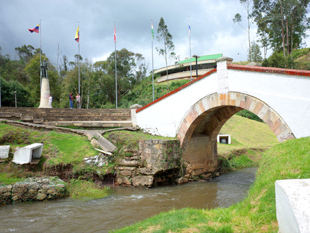 Puente de Boyaca, the site of the famous Battle of Boyaca where the army of Simon Bolivar, with the help of the British Legion, secured the independence of Colombia Stock Photo - 80858450