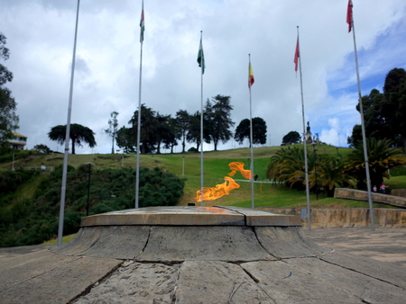legion: The Eternal Flame monument at Puente de Boyaca, the site of the famous Battle of Boyaca where the army of Simon Bolivar, with the help of the British Legion, secured the independence of Colombia