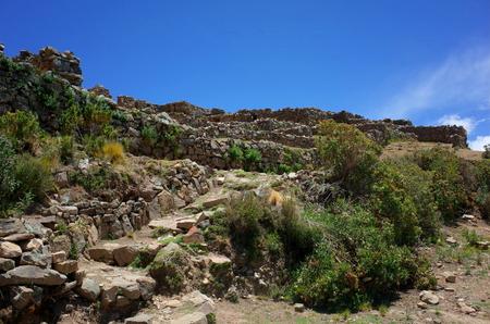 Chincana Inca Ruins on the Isla del Sol on Lake Titicaca