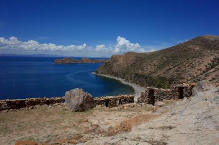 The Chincana Inca Ruins on the Isla del Sol on Lake Titicaca