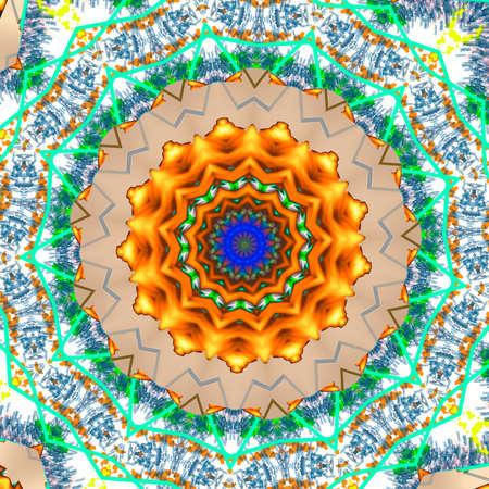 fiery: Fiery Star Kaleidoscope Illustration Stock Photo